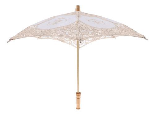 Guarda-sol De Renda Vintage En Handle Umbrella Para Festa De