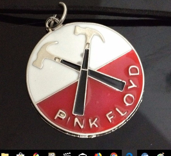 Colar Bandas Rock Punk Heavy Metal Pink Floyd Aço Cromado