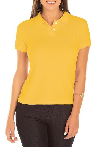 Camisa Gola Polo Feminina Baby Look Camiseta Atacado Varejo