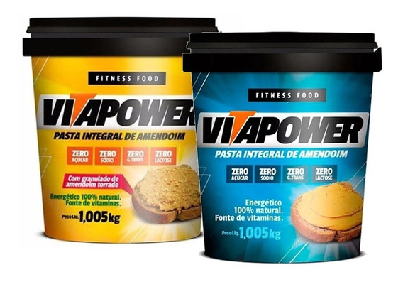Kit 2 X Pasta De Amendoim 1kg Integral - Vitapower