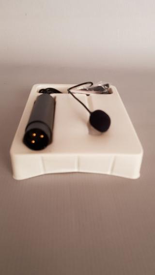 Microfone Lavalier De Lapela Xlr Phantom Power 48v Cabo 2m