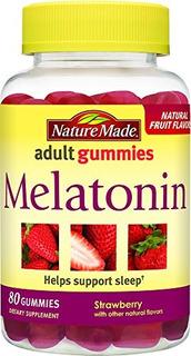 Naturaleza Hizo Melatonina 2,5 Mg. Gomitas Adultos 80 Ct