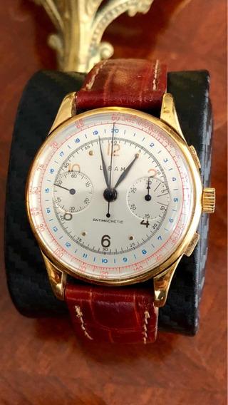 Magnífico Relógio Cronógrafo Pulso Libam Tipo Omega Tissot