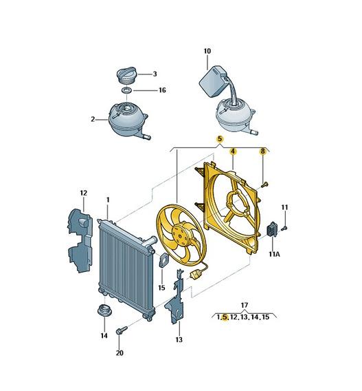 Ventilador Eletrico Com Anel De Ventilador Up 1s0121207k