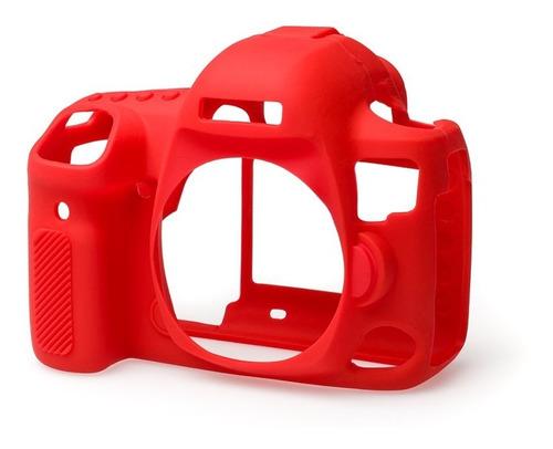 Carcasa Silicon Easycover Rojo Canon 5d Mark Iv + Mica Lcd