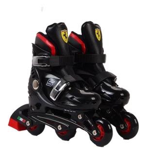 Rollers Ferrari Set Para Niños- Modelo Fk7-1 Extensibles