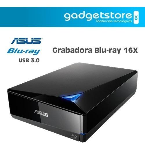 Grabadora Blu-ray 16x Asus Bw-16d1x-u Usb 3.0/3.1 M-disc