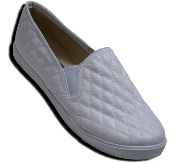 Tenis Slip On Resorte Comodo Suave Tipo Piel Antiderrapante