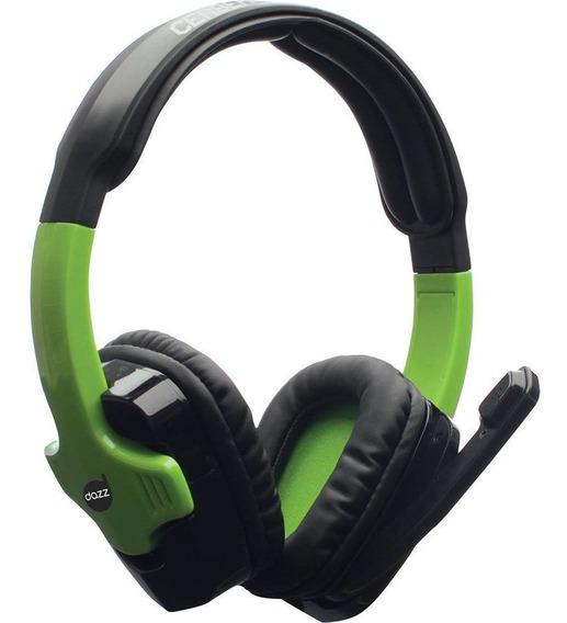 Headset Gamer Dazz Cerberus 2.0 - Xbox 360 Preto/verde + Nf
