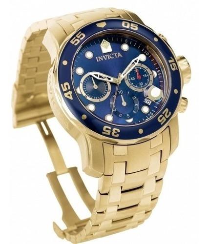 Relógio Invicta Pro Diver 0073 Ouro 18 K Original Garantia
