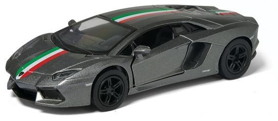 Lamborghini Aventador Lp 700-4 Escala 1:38 Kinsmart Gris