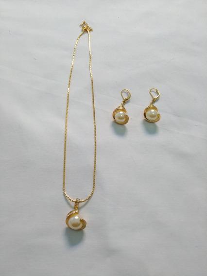 Conjunto Colar E Brinco (bijuteria Fina) N.7