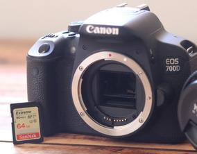 Câmera Canon Eos 700d Corpo + Cartão Sd 64gb + Bateria