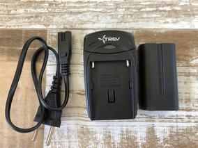 Carregador + Bateria Para Sony Np-f550 Trev