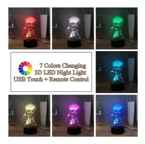L/ámpara de noche de ilusi/ón /óptica 3D para ni/ños Habitaci/ón de oficina en casa Decoraci/ón de tema L/ámpara LED 7 Cambio de color Bot/ón t/áctil USB Acr/ílico