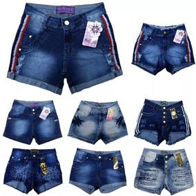 Roupa Feminina Kit Com 01 Saia E 01 Shorts Jeans Com Licry