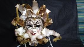 Máscara Veneziana Balocoloc Original - Feita A Mão