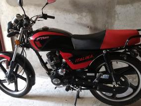 Motocicleta Italika Ft 125 De Trabajo Negro Con Rojo