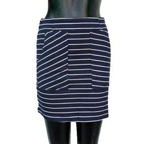 1ae50e91c4 Falda Recta - Faldas de Mujer Azul marino al mejor precio en Mercado ...