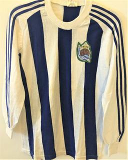 Camisa Real Sociedad Anos 80 Mangas Longas Rara