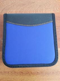 Porta Cd Estojo Para 24 Case Azul E Preto - R$ 12,00