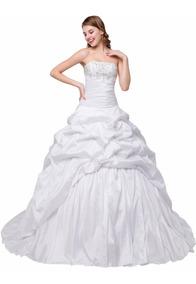 Vestido De Novia W-0001 En Blanco O Ivory