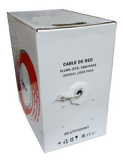 Bobina Rollo Cable Red Utp Categoria 5e 305 Metros Interior