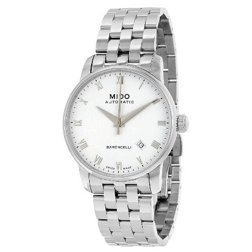 Relógio Mido Baroncelli M86004261 Automatico 38mm Branco Aço