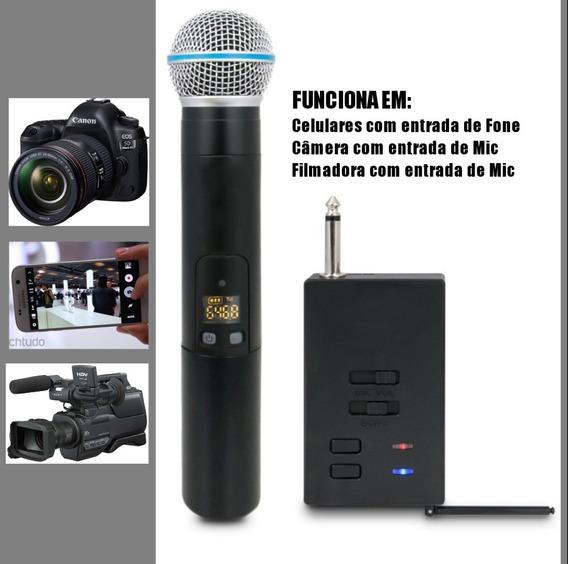 Microfone Sem Fio Para Celular Câmeras E Filmadoras