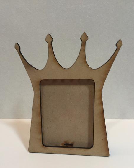 Porta Retrato Corona Rey Varon De Fibrofacil Foto 6x9