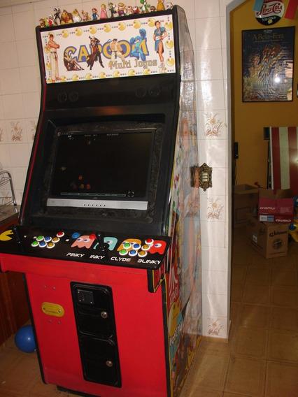 = Multijogos Street Fighter 900 Jogos Máquina Adesivada Lcd