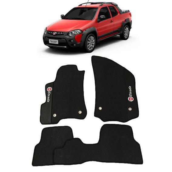 Tapete Borracha Fiat Strada Cabine Dupla 2012 A 2019