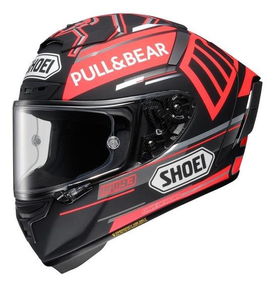 Capacete para moto integral Shoei X-Spirit III marquez black concept tc-1 tamanho S