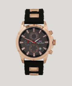 Relógio Masculino Cronógrafo Rosé E Preto Pl80068612m