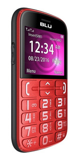 Celular Senior Blu Joy Sos Para Adulto Mayor Rojo