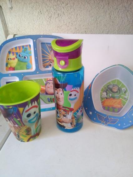 Set De Toy Story 4 Platos,vaso Y Termo Envío Gratis
