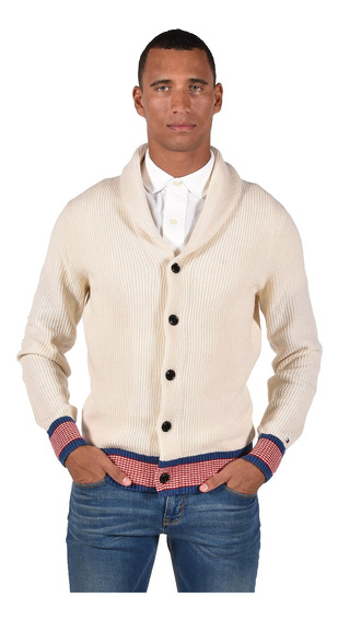 Suéter Tommy Hilfiger Blanco Mw0mw03188-118 Hombre