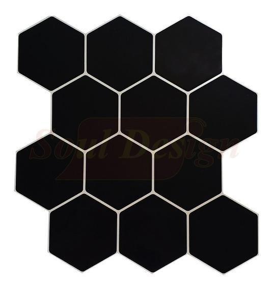 Azulejos Hexagonales Autoadhesivos Tipo Panal Negro Soul