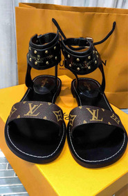 Sandalhas Louis Vuitton Rasteira De Luxo C/ Caixa E Sacola