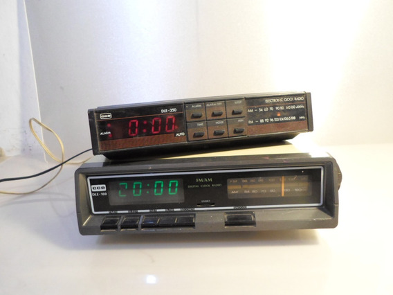 Radiorelogio(2 Dois) Cce Mod. Dle-00 E Dle-350 (ler Anuncio)