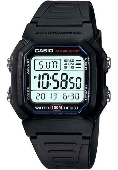 Relógio Original Casio Digital W-800h-1avdf Garantia Nfe