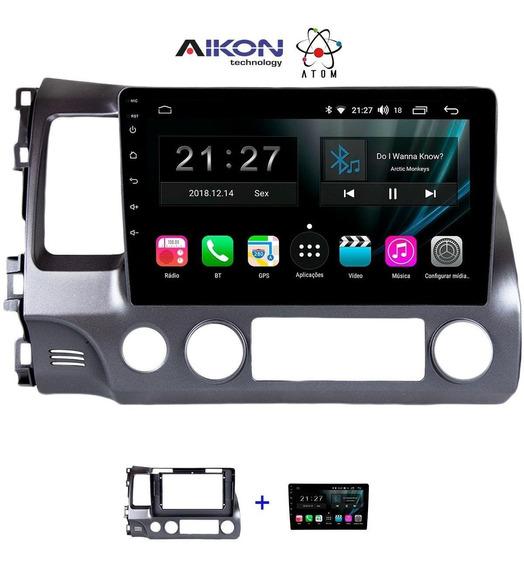 Multimidia Honda Civic 2007/2011 Aikon Atom Android 8.1 10.1