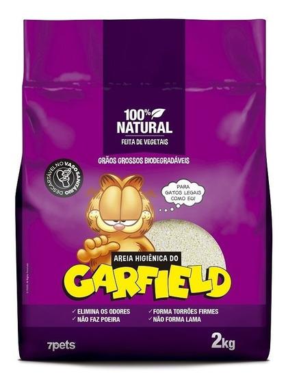 Areia Higiênica Gato Garfield Biodegradável Grão Grosso 2kg