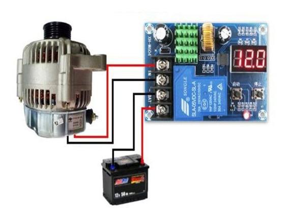 Modulo Controlador De Carga 30a 6-60v Eolico E Solar Xh-m604