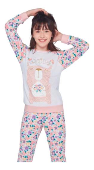 Pijama Nena Niña Invierno Abrigado So Pink