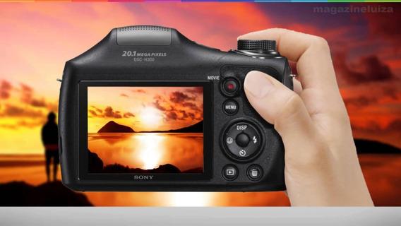 Câmera Digital Sony Dsc-h300 3.0 20.1mp Zoom Optico 35x