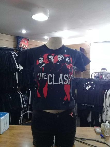 Camiseta Baby Look The Clash Banda Cl001