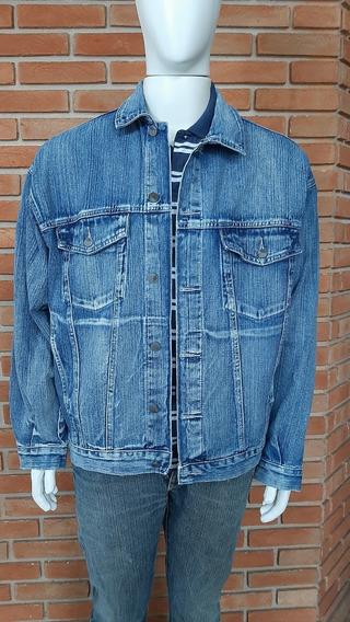 Jaqueta Jeans Masculina Bivik Tam M Vintage Homem Alto