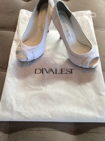 a8f7c187d Sapato De Noiva Divalesi Bridal - Rendado - Branco/ Perfeito