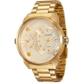 Relógio Mondaine Masculino 2analógicos Dourado 78527gpmvda3